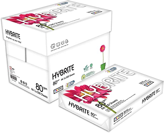 HYBRITE Papel Multiusos A4 Para Impresora 80gr